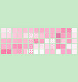 big set of 70 seamless abstract patterns pink and vector image vector image