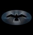 bird logo in guilloche style vector image