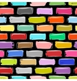 Brick wall colorful sketch for your design vector image vector image