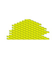 brick wall in yellow design vector image vector image
