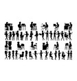 business people silhouette set man woman vector image vector image