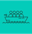 business team icon line boat concept background vector image vector image