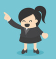 business woman pointing with confidence vector image