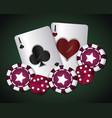 casino concept design vector image vector image