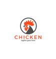 chicken logo vector image vector image