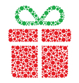 Christmas present made of circles vector image vector image