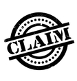 Claim rubber stamp vector image vector image
