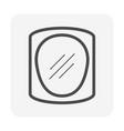 clear face guard icon design vector image