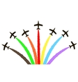 colorful aircraft vector image