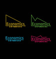 cool and varied colored economic graph vector image