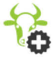 cow create halftone icon vector image