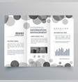 creative black circle trifold brochure design vector image