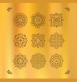 design elements graphic thai on a gold vector image