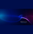 digital particle mesh wave glowing background vector image