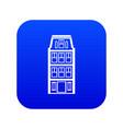 dutch houses icon digital blue vector image vector image