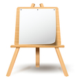 easel with blank paper vector image
