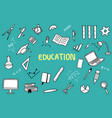 education doodle with color and educations object vector image vector image