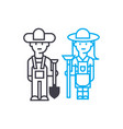 farmers linear icon concept farmers line vector image vector image