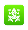 frog icon digital green vector image