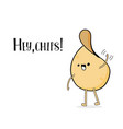 funny cartoon potato chips waving cute vector image