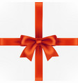 gift box with red decorative bow vector image