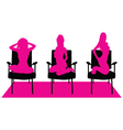 girl pink silhouette vector image vector image