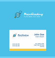 globe logo design with business card template vector image vector image