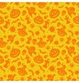 Halloween orange seamless pattern vector image vector image