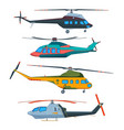 helicopter aviation helicopters cartoon avia vector image vector image