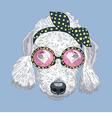 hipster dog Bedlington Terrier vector image vector image