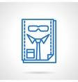 HR management blue line icon vector image