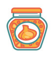 jar with pickled garlic vector image