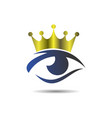 king eye logo vision icon concept design vector image vector image