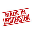 made in liechtenstein stamp vector image vector image