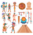 maya culture elements set vector image vector image