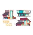 modern architecture houses cartoon set vector image
