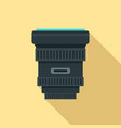 modern lens icon flat style vector image