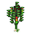 monument to traffic light tree in russian city vector image