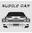 Muscle car retro poster vector image vector image