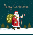 night santa claus vector image