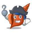 pirate long shell character cartoon vector image