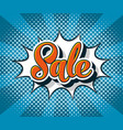 pop art comic sale web banner vector image vector image