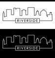 riverside skyline linear style editable file vector image