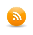 Rss icon simple style vector image