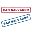 San Salvador Rubber Stamps vector image vector image
