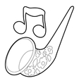 Saxophone icon outline style vector image