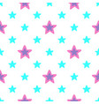 seamless pattern with blue and pink stars vector image vector image