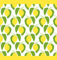 seamless pattern with lemons and leaves vector image vector image