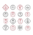 set of BBQ labels vector image
