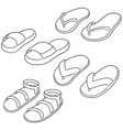 set of slippers vector image vector image